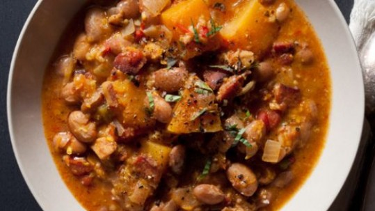 Cranberry bean stew